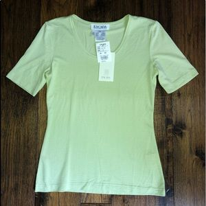 Escada Margaretha Ley Lime Green Short sleeve top